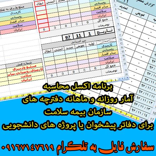 برنامه محاسبه آمار صدور دفترچه هاي بيمه سازمان بيمه سلامت