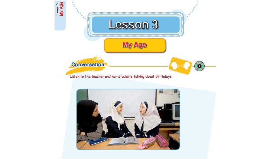 فیلم آموزش کامل درس سوم زبان انگلیسی هفتم (My age: سن من)